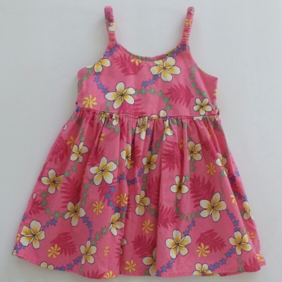 BNWT GIRLS COTTON NAVY SIZE 1 TO 7 RED FLORAL DRESS